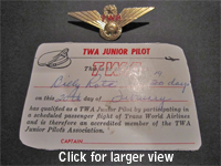 Click for a close up of the wings and certificate